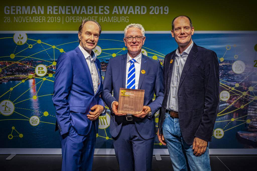 "Ice storage system: Dr. Eckard Jantzen honored with ""German Renewables Award"""