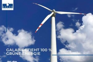 GALAB obtains 100 % green electricity